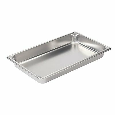 "Vollrath 30022 2-1/2"" Deep Super Pan V Stainless Steel Full-Size Steam Table P"