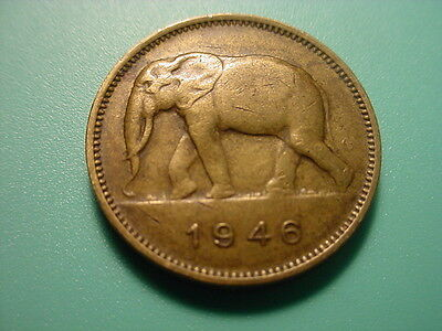 Belgium Congo 1946 2-Francs In Very Nice Condition