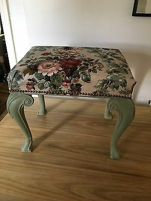 Vintage Dressing Table Stool. Upcycled