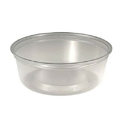 M-Line Squat Food Container Cups, 8 oz, Plastic, Clear - SCC MC8SX