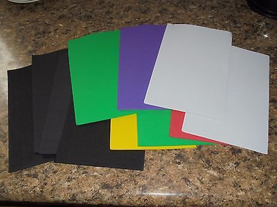 "Craft Foam Sheets Lot Assorted Colors 8.5"" x 5.5"" NEW Crafts 1mm"