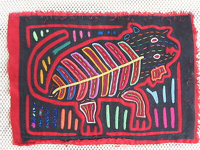 Kuna Tribe Quilt Mola Nice Kitty  E.618