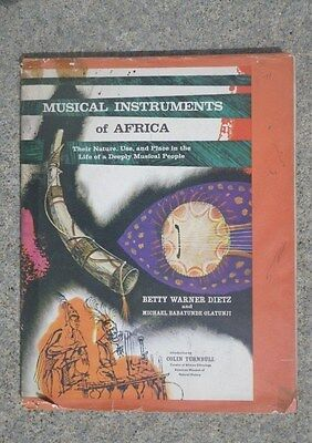 1965 HCWDJ Musical Instruments Of Africa w 45 Record by Betty Dietz First Ed
