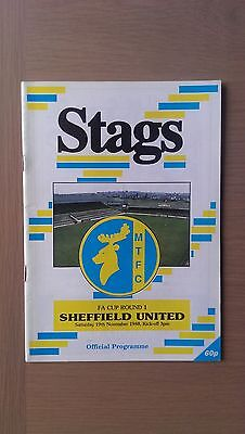 Mansfield Town V Sheffield United 1988-89