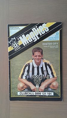 Notts County V Exeter City 1990-91