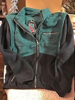 Nwt--Vintage Mountain Dew Fleece Jacket/vest-Size Small-Sleeves Zip Off For Vest