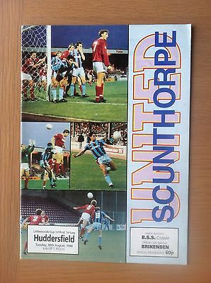 Scunthorpe United V Huddersfield Town 1988-89