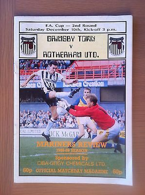 Grimsby Town V Rotherham United 1988-89
