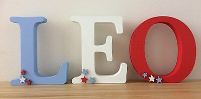 personalised handmade wooden letter for christening/new baby/newborn/birth gift