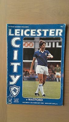 Leicester City V Watford 1981-82