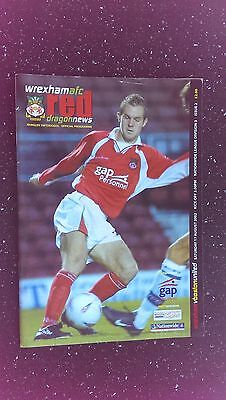 Wrexham V Boston United 2002-03