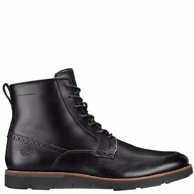 08a0a647baba6 MENS TIMBERLAND PRESTON Hill Gre Leather Mid Chelsea Shoes Boots ...