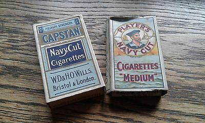 Retro Players Navy Cut & Capstan Old Empty Cigarette Packets