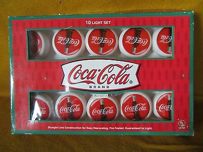 Coca Cola Lights: String of 10 lights from 1998  new in box,  lights work!