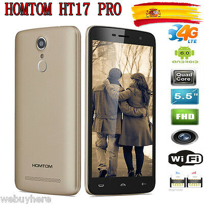 4G 5.5'' Smartphone Android 6.0 16GB ROM MT6737 13MP Móvil HOMTOM HT17 Pro EU