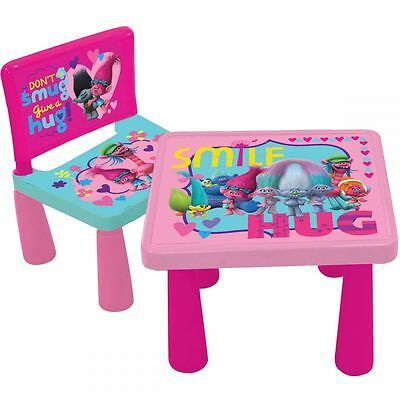 DreamWorks Trolls Table and Chair Offical