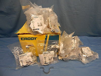 "140 NEW Caddy 1080125EG Two Hole Pipe Strap 1 1/4"" Pre-Galvanized Steel"