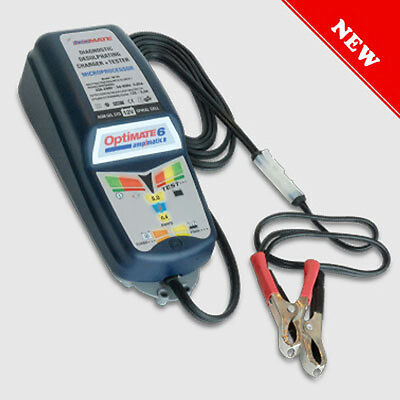 Charger Maintainer Universal Motorcycle Tecmate Optimate 6