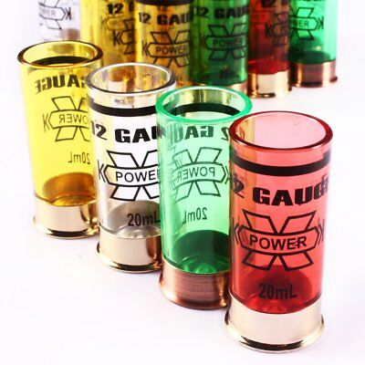 12 Gauge Shotgun Shells Shot Glasses Bullet Party Hunting Shooting Set of 6