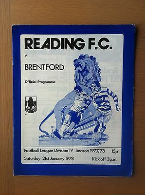 Reading V Brentford 1977-78.