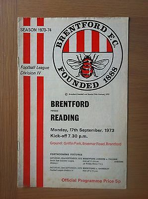 Brentford V Reading 1973-74