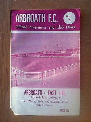 Arbroath V East Fife 1983-84