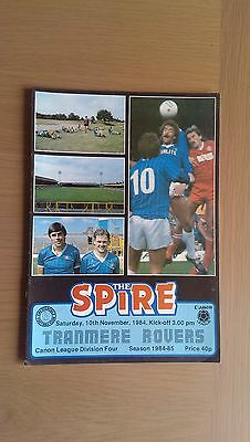 Chesterfield V Tranmere Rovers 1984-85