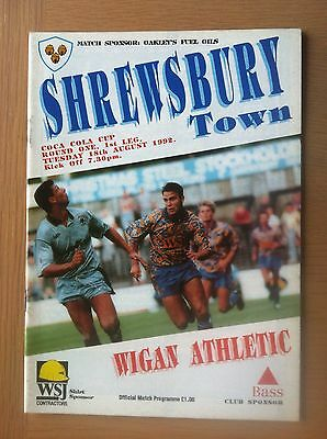 Shrewsbury Town V Wigan Athletic 1992-93