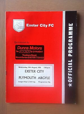 Exeter City V Plymouth Argyle 1976-77