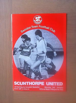 Swindon Town V Scunthorpe United 1982-83