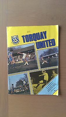 Torquay United V Stockport County 1980-81