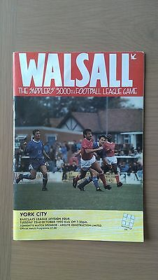 Walsall V York City 1990-91