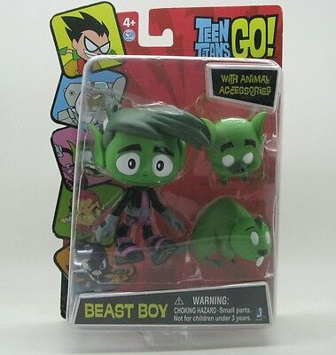 DC Comics TEEN TITANS GO! Figure 4'' beast boy with animal accessories A65E