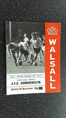 Walsall V Bournemouth 1974-75