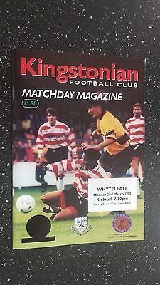 Kingstonian V Whyteleafe 1997-98
