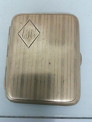 vintage silver plated card case