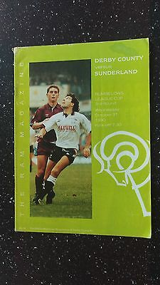 Derby County V Sunderland 1990-91.