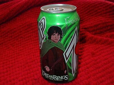 2002 The Lord of the Rings: The Two Towers Frodo Baggins 7-Up Can~Unopened~RARE