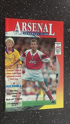 Arsenal V Millwall 1992-93