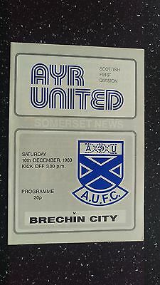 Ayr United V Brechin City 1983-84