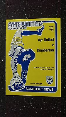 Ayr United V Dumbarton 1980-81