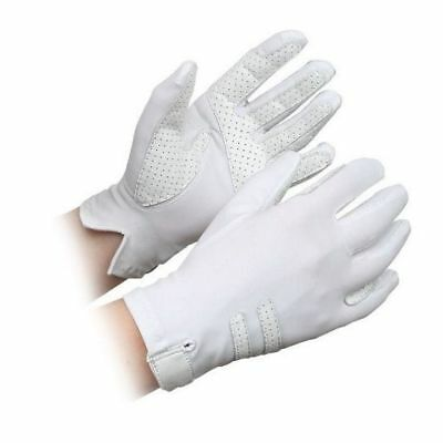 SHIRES KELSALL COMPETITION gloves ADULTS WHITE 874 horse rider grip gloves