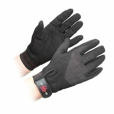 SHIRES GATCOMBE LIGHTWEIGHT GLOVES ADULTS BLACK 871 horse rider grip GLOVES
