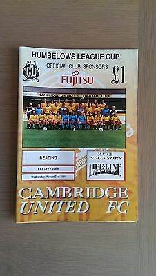 Cambridge United V Reading 1991-92