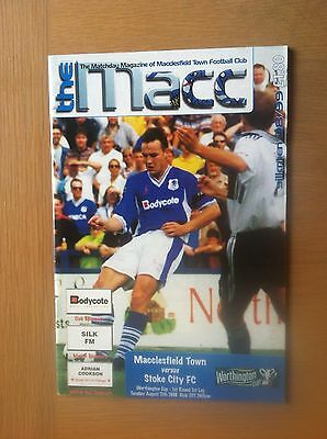 Macclesfield Town V Stoke City 1998-99