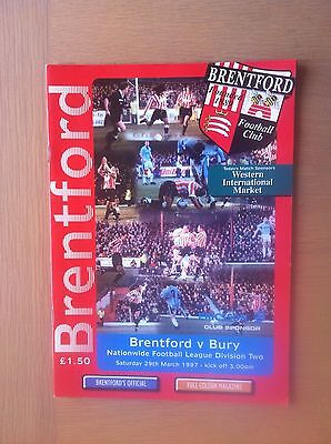 Brentford V Bury 1996-97