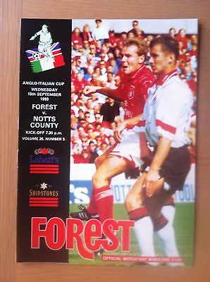 Nottingham Forest V Notts County 1993-94