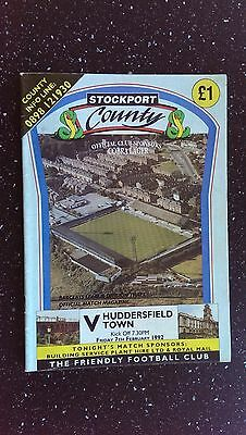 Stockport County V Huddersfield Town 1991-92