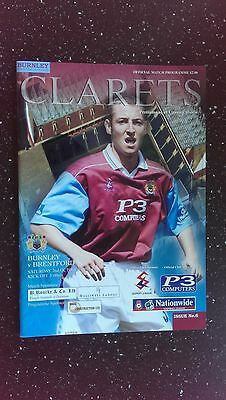 Burnley V Brentford 1999-00