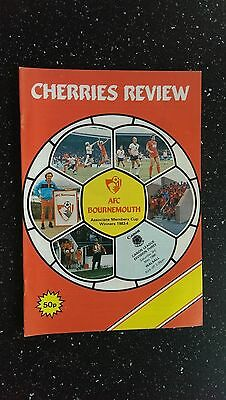 Bournemouth V Walsall 1985-86,